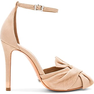 Peep Toe Open Shoes & Heels On Sale in Outlet, Light Sand, Leather, 2017, 7.5 Giorgio Armani
