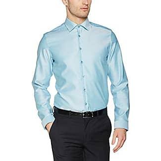 Tailored, Camisa de Oficina para Hombre, Turquesa (Türkis 59), 40 cm Seidensticker