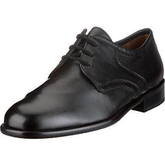 Sioux Houston Lamm-Nappa Gummisohle - Zapatos clásicos de cuero para hombre, Negro, 45