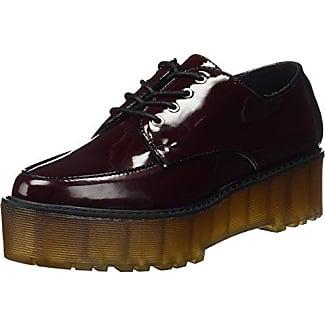 Laura Vitacoralie 11 - Chaussures Plates Avec Une Femme Lacets, Rouge, Taille 40