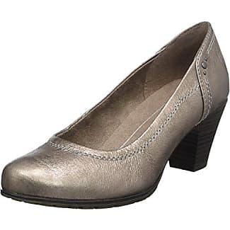 22465, Zapatos de Tacón para Mujer, Beige (Taupe/Metal), 41 EU Soft Line