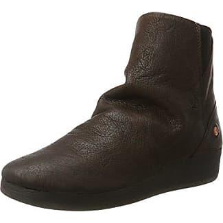 Softinos AYO411SOF Smooth, Botas para Mujer, Marrón (Dk Brown 001), 37 EU