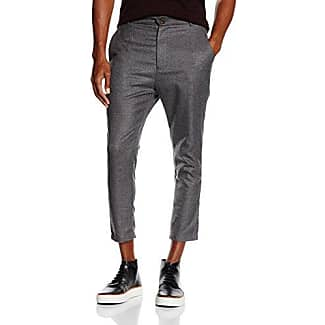Tapered Trousers In Grey - 2890 Solid q4klqWW7vr