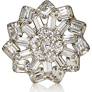 Womens White Crystal & Imitation-Pearl Brooch Stazia Loren tTbRAw