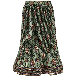 Skirt for Women On Sale, Green, Silk, 2017, 26 28 30 Stella Jean