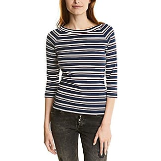 Street One Printed Round Bottom Shirt, Camiseta para Mujer, Blau (Night Blue 20109), 44 (Talla del Fabricante: 42)