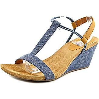 Style & Co. Frauen Mulan Offener Zeh Leger Sandalen mit Keilabsatz Gold Groesse 11 US/42 EU M0fEozG4