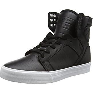Supra Skytop - Sneaker a Collo Alto Uomo, Nero (Black/White), 38 EU