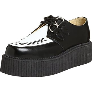 T.U.K. Pointed Stacked & Wrapped Creepers A8863, Unisex-Erwachsene High-Top Sneaker, Schwarz, 38 EU