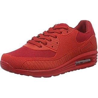 1012 - Scarpe da Ginnastica Basse Unisex - Adulto, Rosso (Rot (Red 02)), 39 Tamboga