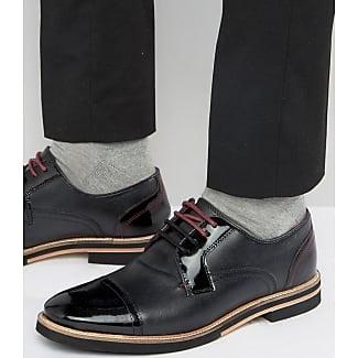 Ted Baker Finbarr 2, Zapatos de Cordones Derby para Hombre, Negro (Black), 40.5 EU