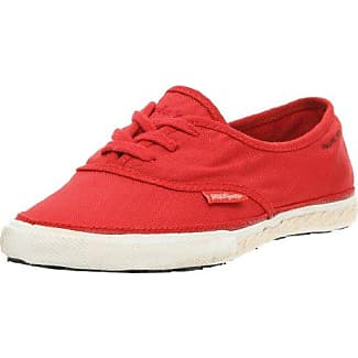 Zapatillas de deporte de tela para mujer, color rojo, talla 36 Peoples Walk