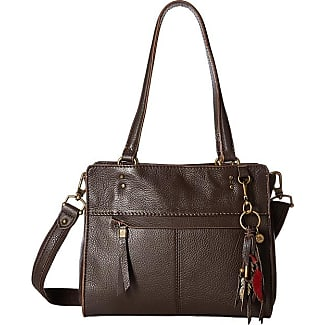 The Sak Alameda Leather Satchel (Cocoa) Satchel Handbags 4PCkpgxs