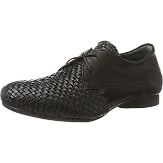 Around the world 360 Zapatos con Cordones Hombre, Color Negro, Talla 41 EU
