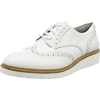 Vanessa E17, Zapatos de Cordones Brogue para Mujer, Blanco (Vernis Blanc Blanc), 39 EU Pellet