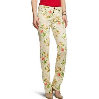 Timezone Pantalón para mujer, talla 31, color verde (mint flower print 8130)