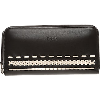 Wallet for Women On Sale, Black, Leather, 2017, One size Tod's