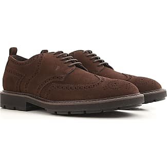 Lace Up Shoes for Men Oxfords, Derbies and Brogues On Sale, Brown coffee, suede, 2017, 6 6.5 7 8 8.5 9.5 Tod's