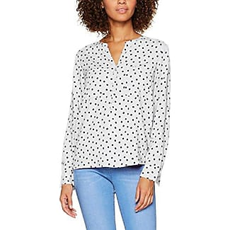 Tom Tailor Trendy Flounce Shirt, Blusa para Mujer, Marfil (Whisper White 8210), 38 (Talla del Fabricante: Medium)