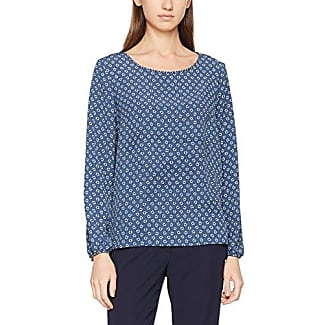 Tom Tailor Structured Blouse, Blusa para Mujer, Azul (Real Navy Blue 6593), 38
