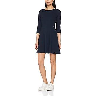 Tom Tailor Denim Flower Printed Dress, Vestido para Mujer, Azul (Real Navy Blue 6593), 38 (Talla del fabricante: Medium)