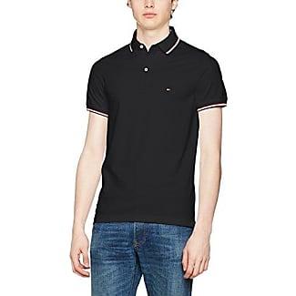 Tommy Hilfiger 867878624060 - Polo - Uni - Manches Courtes - Homme - Noir (New Black) - Large (Taille Fabricant: L) IPZ570D