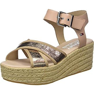 Hilfiger Denim Metallic Flat Sandal, Sandalia con Pulsera para Mujer, Rosa (Rose Gold 638), 38 EU Tommy Jeans