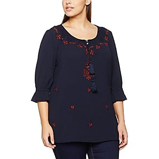 Ulla Popken Shirt, Camiseta de Manga Corta para Mujer, Azul (Marine Melliert 79), 48