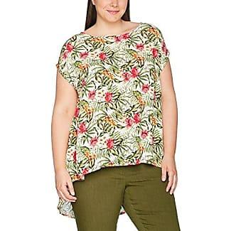 Ulla Popken T-Shirt Mit Abstraktem Alloverprint, Camiseta para Mujer, Blanco (Ecru 21), 52