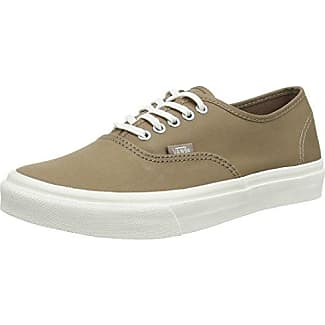 Authentic Slim, Sneakers Basses Mixte Adulte, Marron (Brushed Twill/Caribou/Blanc de Blanc), 34.5 EU (2.5 UK)Vans