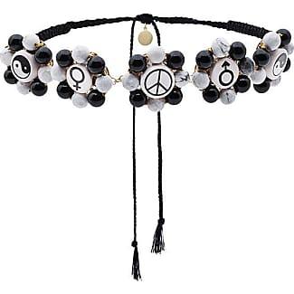 Multi Charm Necklace - Black Venessa Arizaga hQTXPRV1