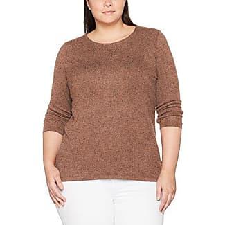 Via Appia Due T-Shirt Rundhals MIT Pailletten 3/4 Arm - Camiseta para Mujer, Color Beige (Ecru 950), Talla 46