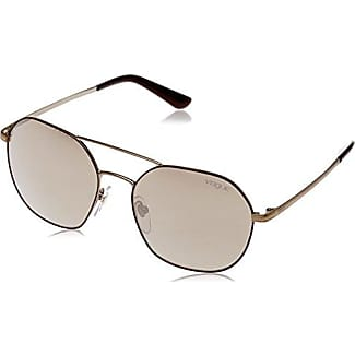 VOUGE Damen Sonnenbrille 0VO4002S 996S13, Gold (Matte Beige/Brushed Gold/Browngradient), 55