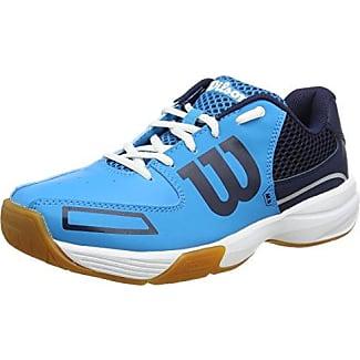 Wilson Rush Pro 2.0 Clay, Zapatillas de Tenis Unisex Adulto, Azul/Blanco, 44 1/3 EU