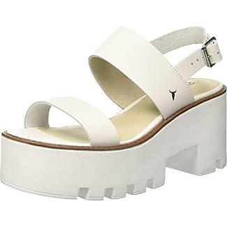 Damen Lily Leather Sandalen mit Riemchen, Bianco (White), 41 EU Windsor Smith