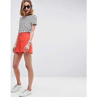 Tailored - Leinen-Shorts mit D-Ring - Orange Asos