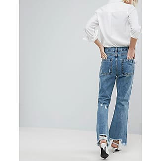 Jeans mit schmalem Beinschnitt und Blumen-Aufnäher - Blau Evidnt Eawg3Q2N