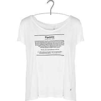 T-Shirt aus zwei Materialien mit Siebdruck I CODE Begrenzt WL7tlmoEaS
