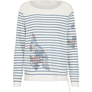 Pullover mit Kakadu aus Strass blau / weiß Monari TMaKzam5