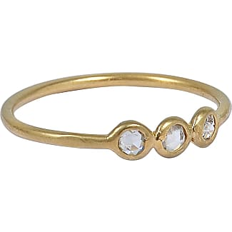 5 OCTOBRE Wild Ring in 24K Gold-Plated Silver and Diamonds