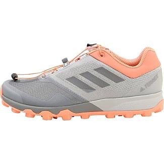 adidas Performance TERREX AGRAVIC SPEED W - Chaussures de marche - mottled grey/anthracite/orange