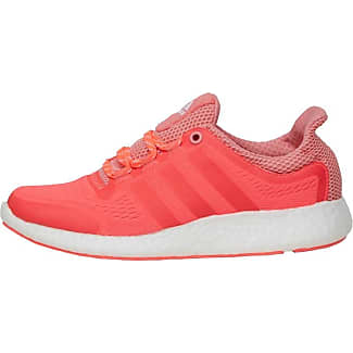 adidas Womens Pure Boost chill Neutral Running Shoes Flash Red/Pink/White