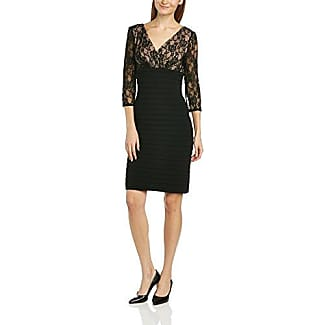 LACE BANDED DRESS - Robe - Plissée - Sans manche - Femme - Noir - 36 (Taille fabricant: Size 8)Adrianna Papell