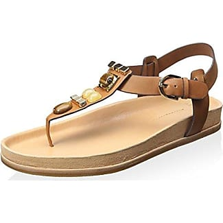 Aerin Woman Braided Leather Sandals Tan Size 35