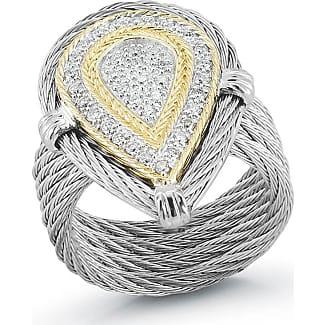Alór Open Diamond Pavé Teardrop Ring, Size 6.5