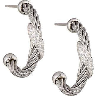 Alór Black & Gray Noir Small Hoop Earrings
