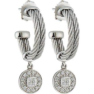 Alór Cable Hoop Earrings w/ Diamonds