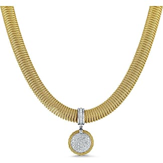Alór Open Diamond Pendant Necklace, Yellow Golden
