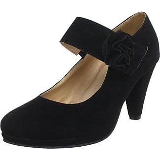 Andrea Conti 0594345 0594345 - Zapatos clásicos de ante para mujer, color negro, talla 38