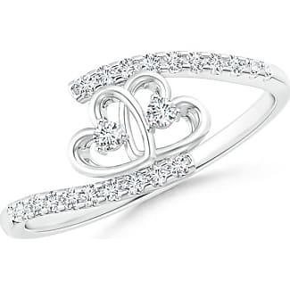 Angara Entwined Infinity Diamond Halo Promise Ring